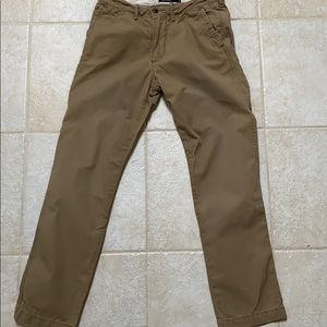 Abercrombie & Fitch flat front slim straight 28x30